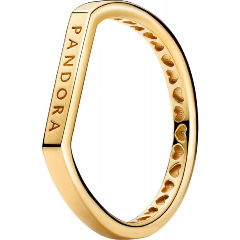 Pandora Ring 169048C00 Logo Bar Shine