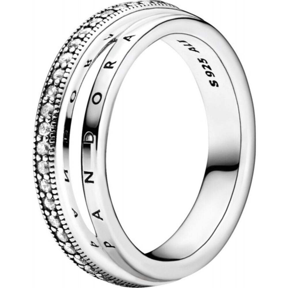 Pandora Ring 199040C01 Triple Band Pave Silber 925