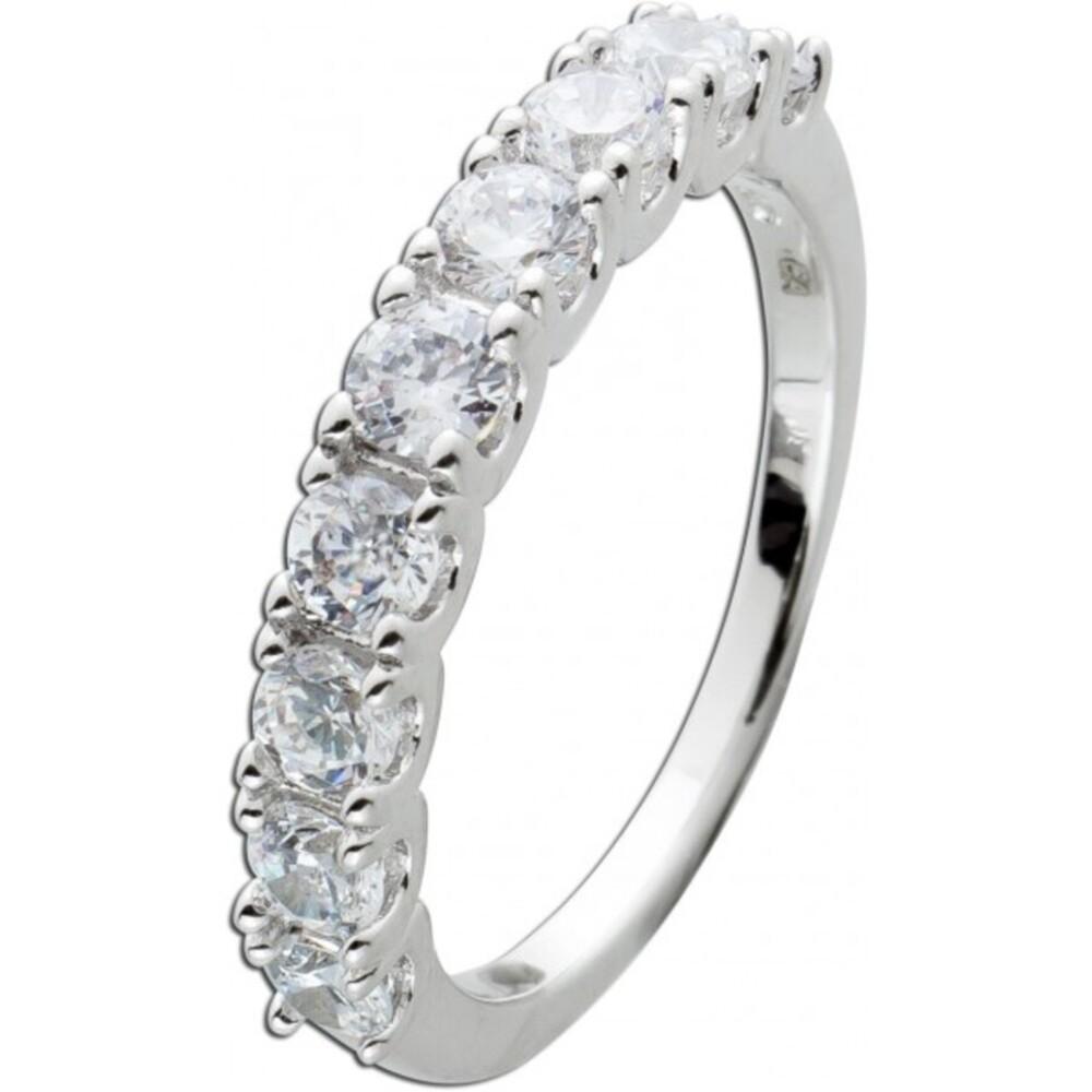 Alliance Ring Silber 925/- mit 9 funkelnden Zirkonia