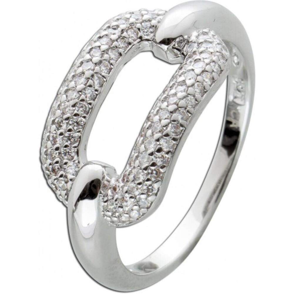 Ring Silber 925 Funkelnder Zirkonia Ring 70 Zirkonia Steine