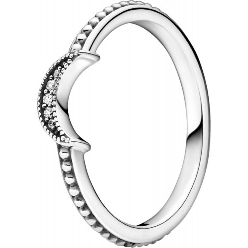Pandora Passion Ring 199156C01 Sparkling Crescent Moon Silber 925 Klare Zirkonia