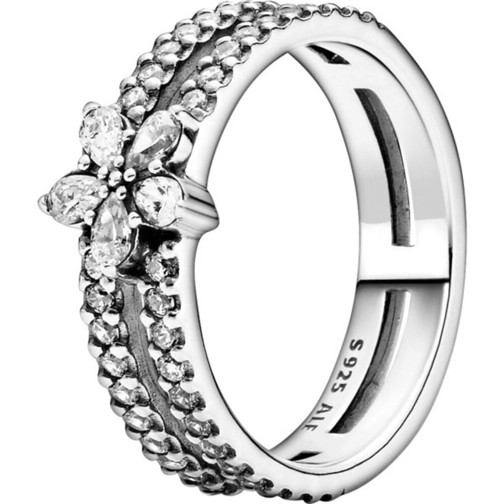 Pandora Ring 199236C01 Sparkling Snowflake Silber 925clear cubic zirconia