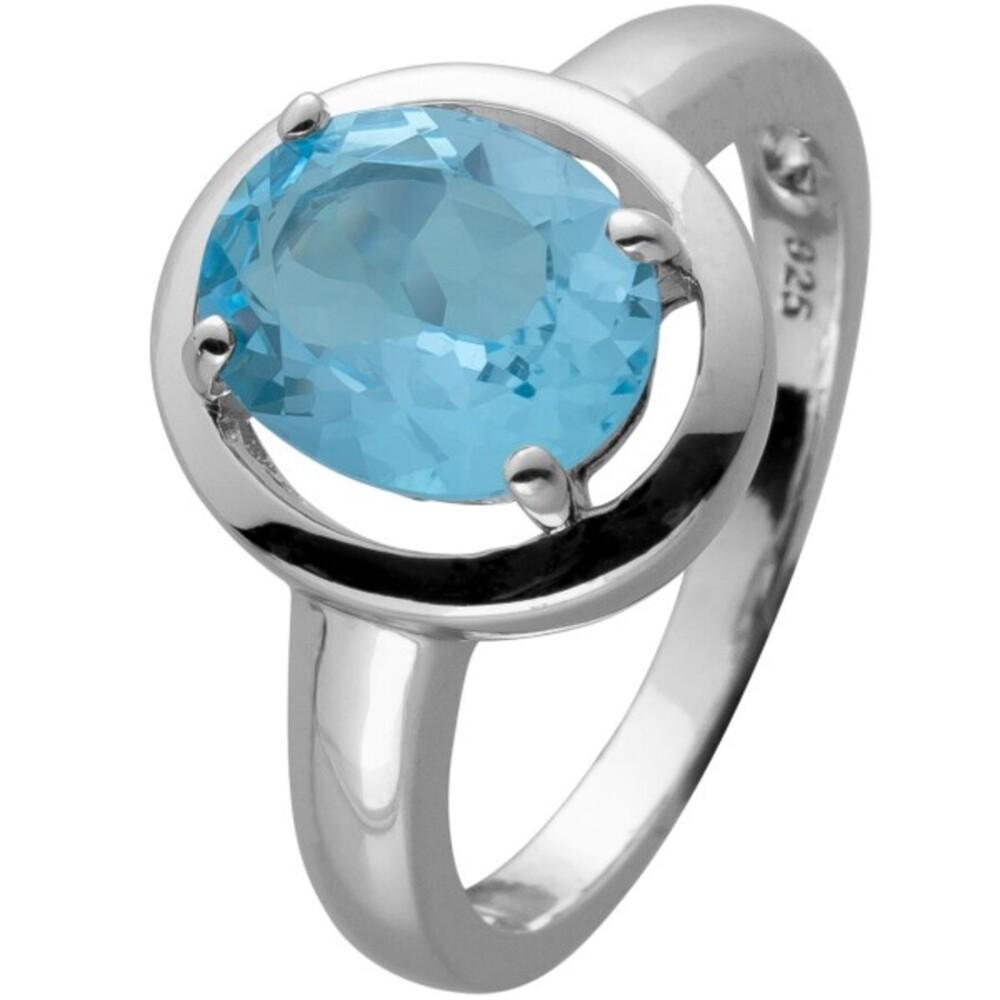 Ring Silber 925 mit einem echten Blautopas Edelstein cirka 3ct