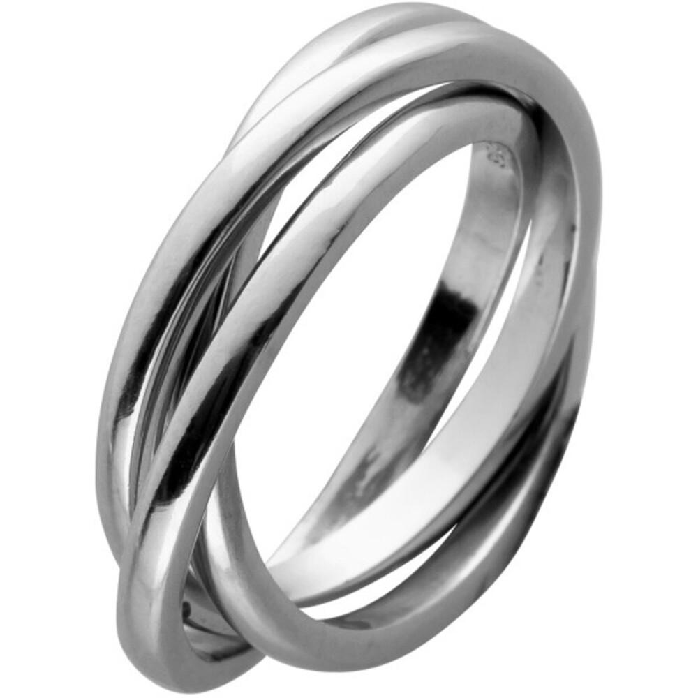 Trinity Ring Silber 925 beweglich 3 Ringe ineinander