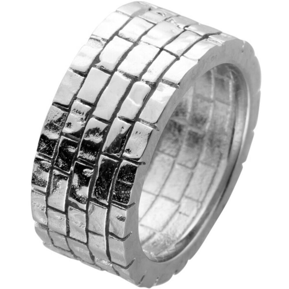 Ring Edelstahl mit strukturierter Oberfläche T-y Design