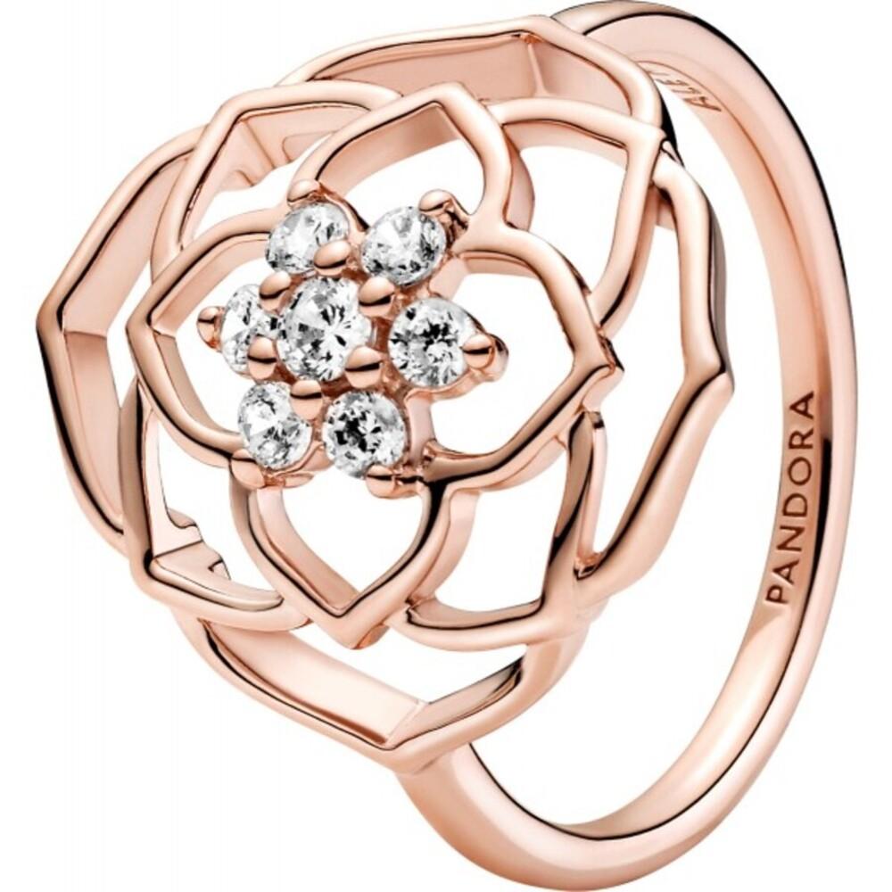 Pandora Timeless Ring 189412C01 Rose Petals Rose Metall Klare Zirkonia