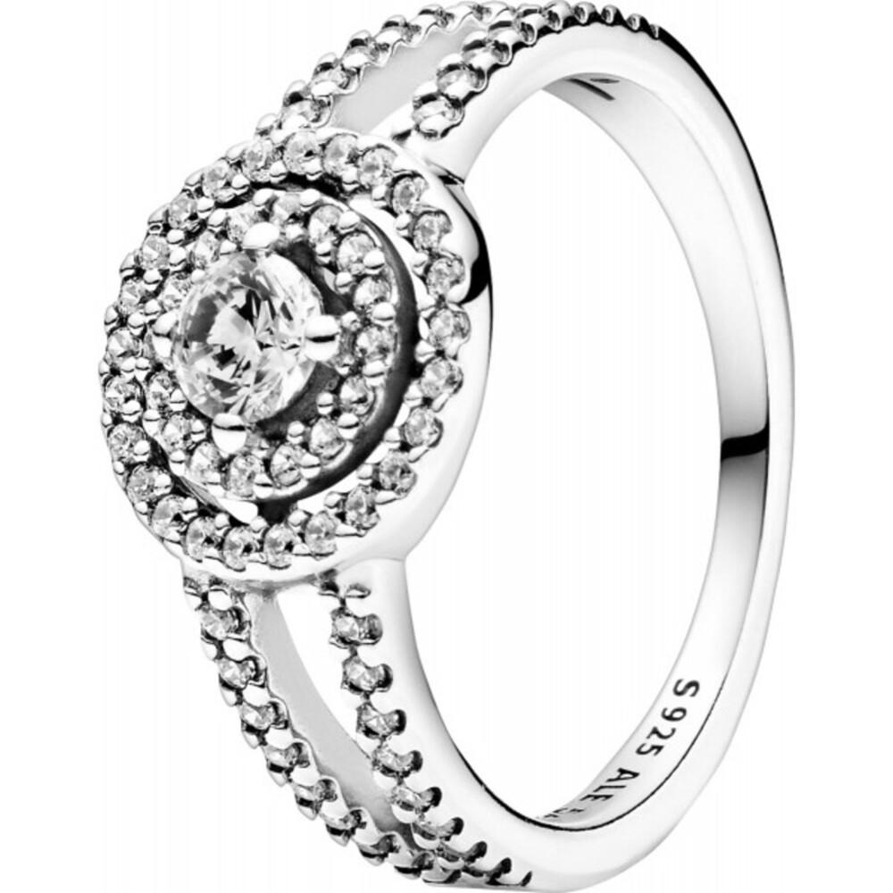 Pandora Timeless Ring 199408C01 Sparkling Double Halo Silber 925 Klare Zirkonia