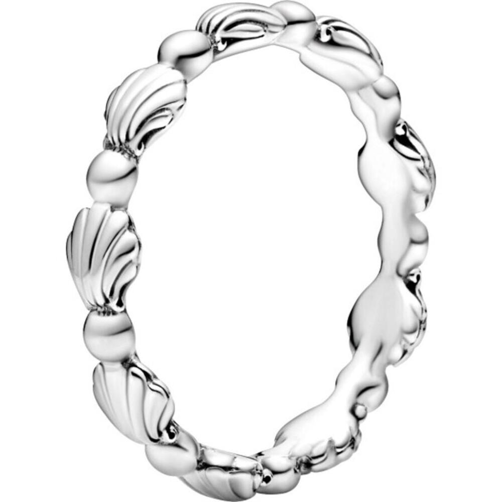 Pandora Moments Ring Sommer Kollektion 2021 Stackable Beaded Seashell Band Muschel Design Silber 925 198943C00