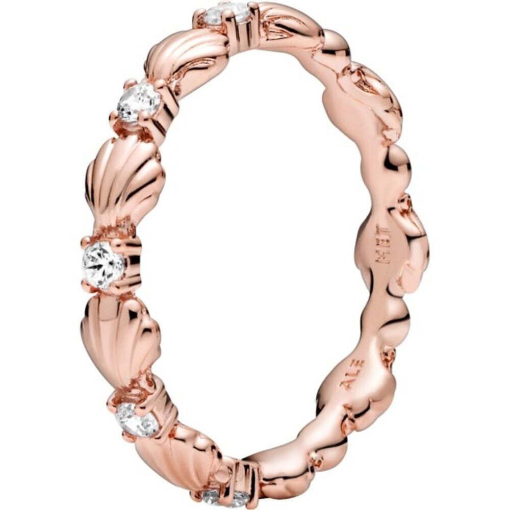 Pandora Rose 2021 Sommer Kollektion Ring Muschel Zirkonia Design Ring stackable Sparkling Seashell Band 188946C01