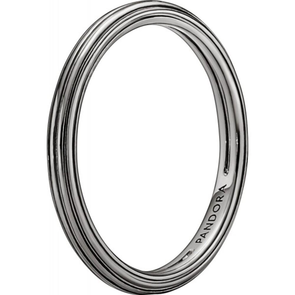 Pandora Ring Stackable 149591C00 Pandora Me Ring Ruthenium plattiert Damenring