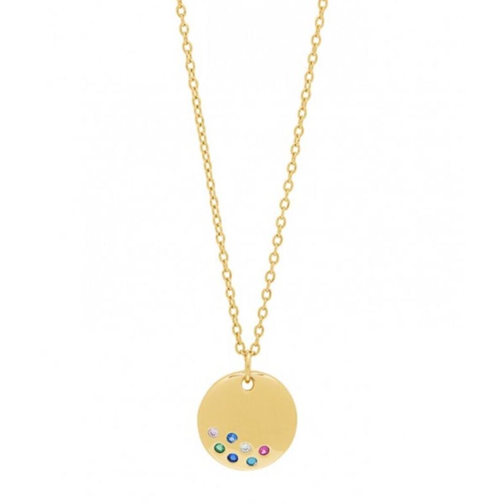 JOANLI NOR Halskette ELINORANOR 245 128-3 Silberkette Silber Gold vergoldet, 42+3cm
