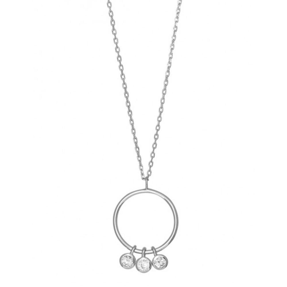 JOANLI NOR Halskette EMMYNOR 245 138 Silberkette Zirkoniakette Silber rhodiniert, 42+3cm