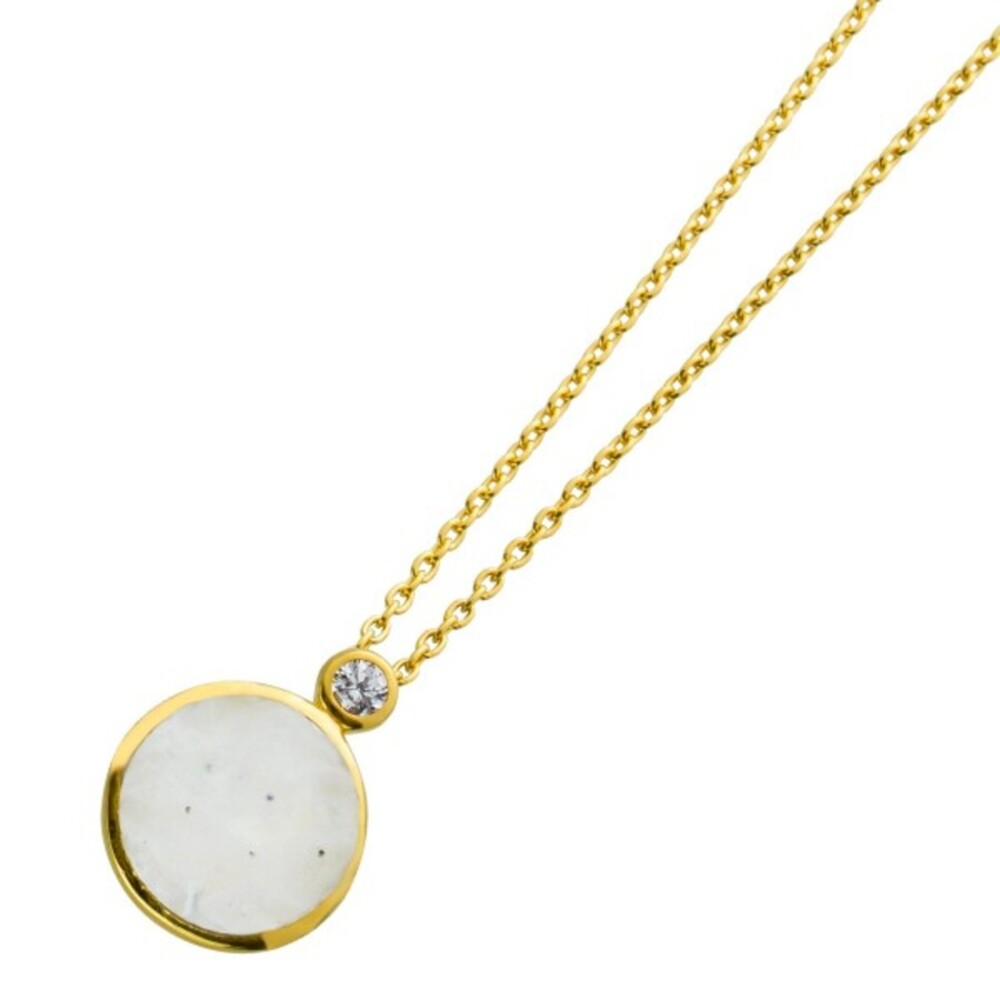 Anker Kette Regenbogen Mondstein Silber 925 weißen Zirkonia 1