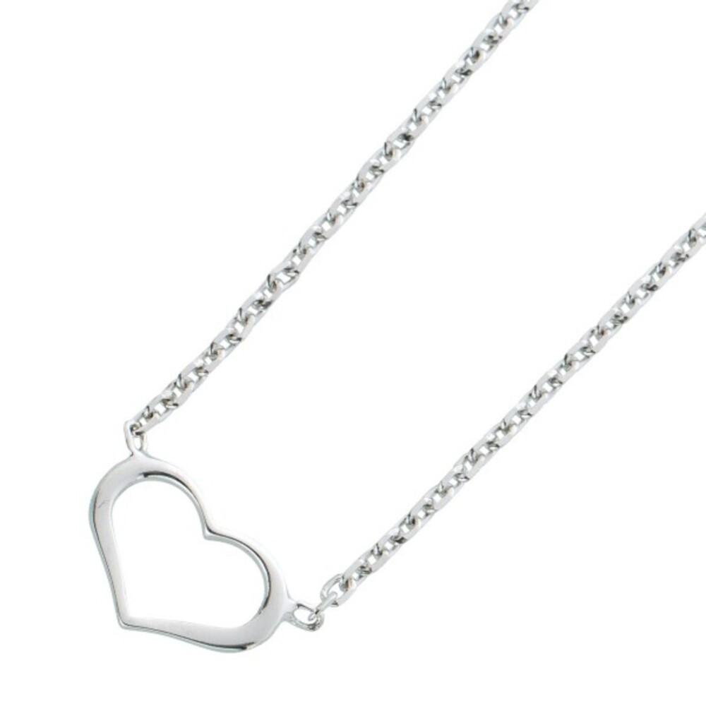 Anker Herzkette Silber 925 Damenschmuck