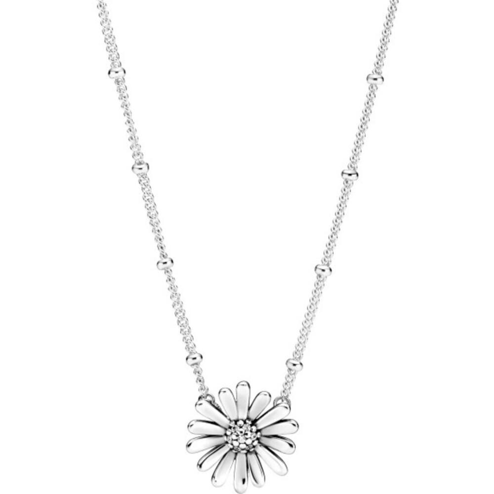 Pandora Halskette 398964C0145cm Pave Daisy Flower Sterling silver clear cubic zirconia