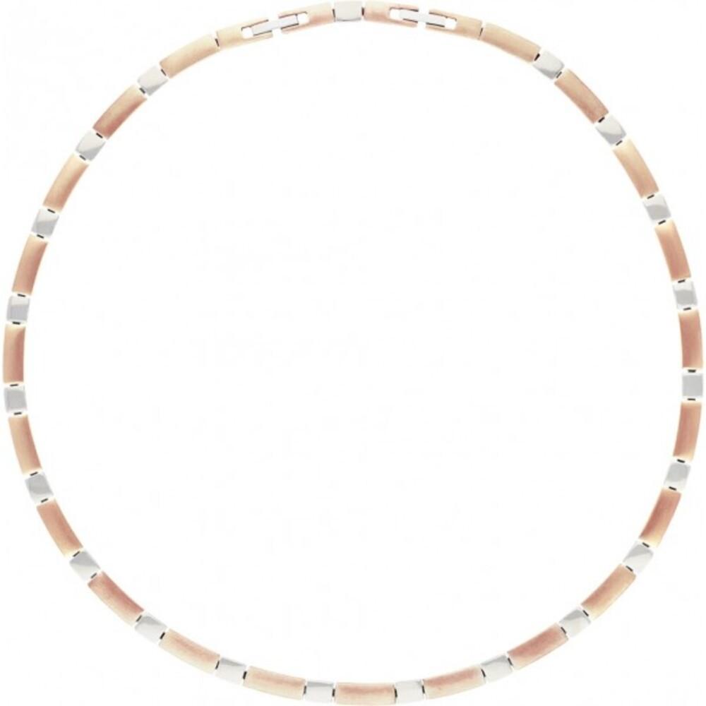 Titania Halskette 29182 Titan Teils IP Rose Vergoldet Satiniert Poliert