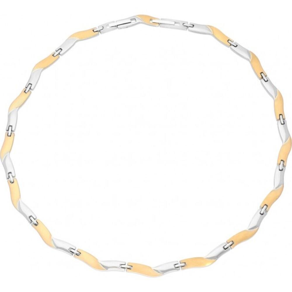 Titania Halskette 29753 Titan Teils IP Vergoldet Satiniert Poliert