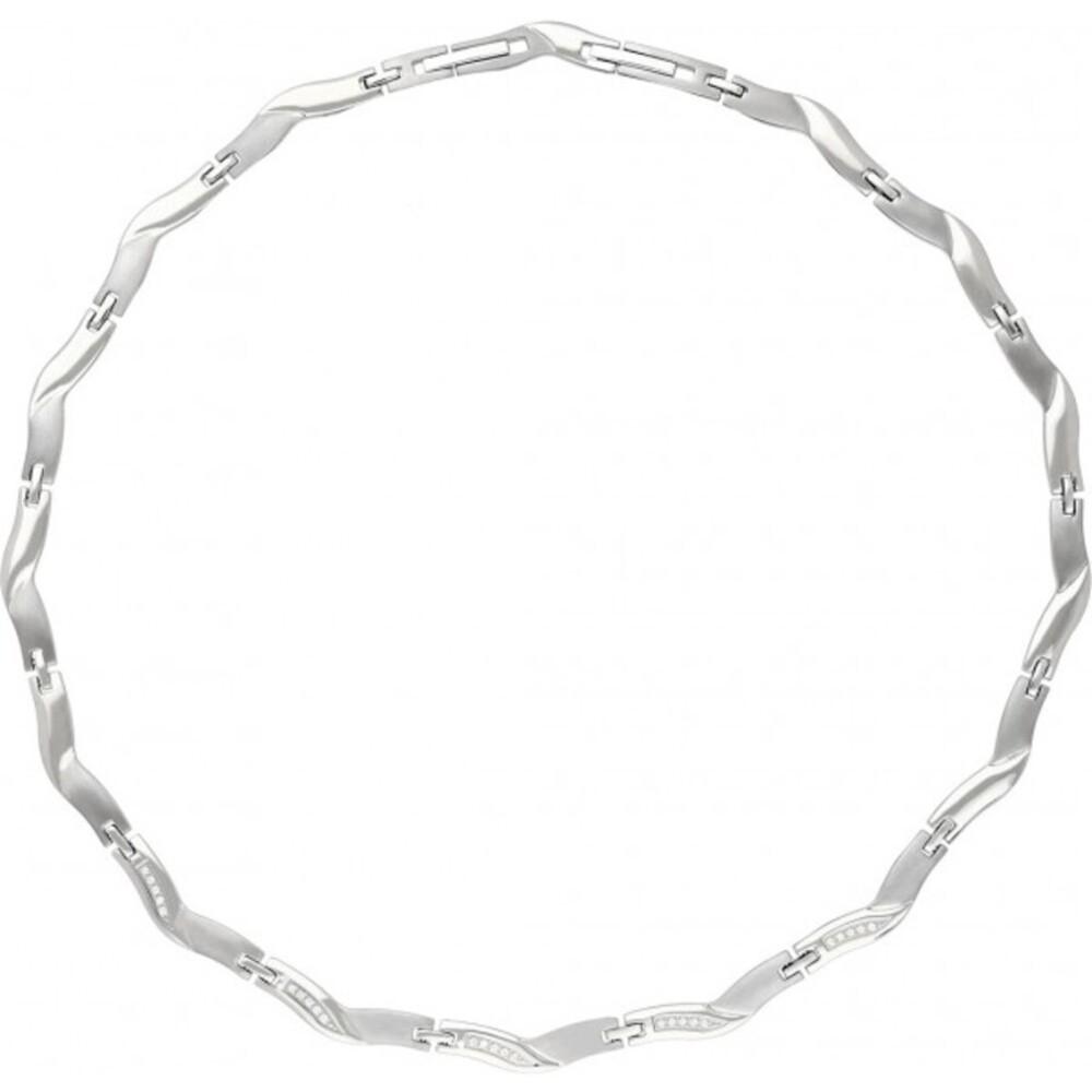 Titania Halskette 29752 Titan Klare Zirkonia Satiniert Poliert