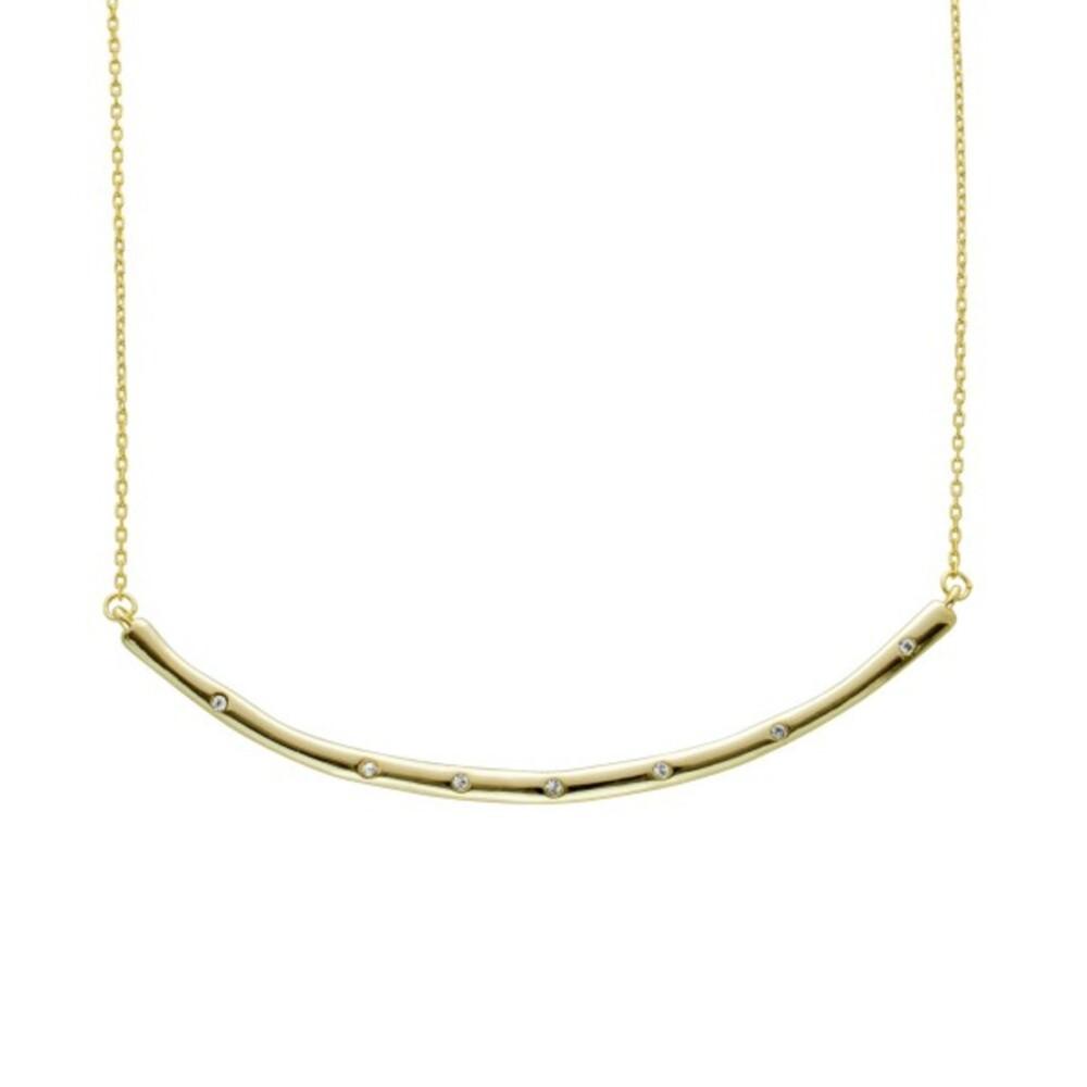 Vivien Lee Zirkonia Collier Edelstahl vergolde Halskette 40+7cm VL Kollektion