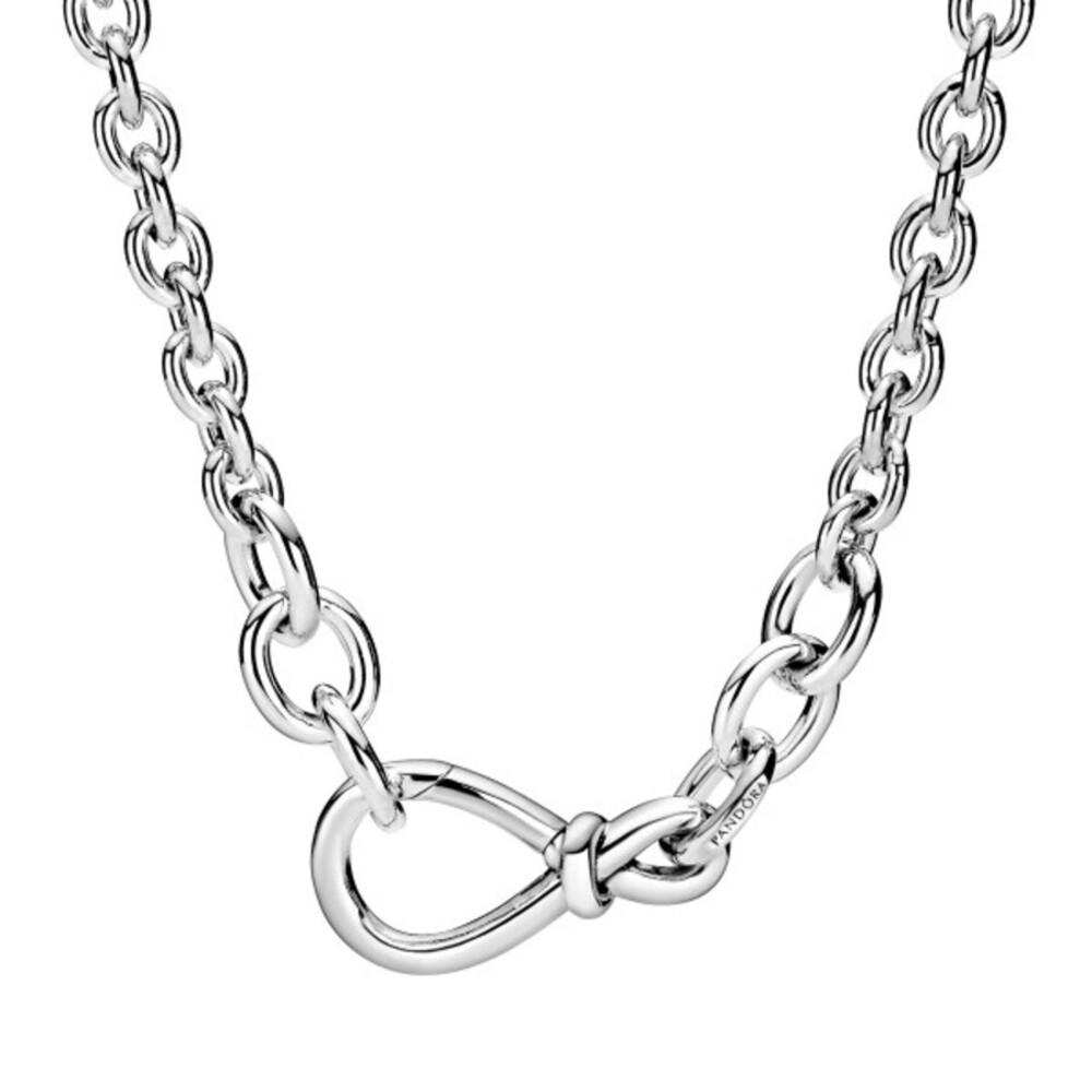 Pandora Timeless Halskette 398902C00-50 Chunky Infinity Knot Chain Silber 925