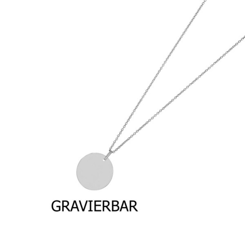 Nordahl Joanli Nor Halskette 825 764 Two-sided52 Silber 925 Rhodiniert Gravierbar 60+10cm Länge