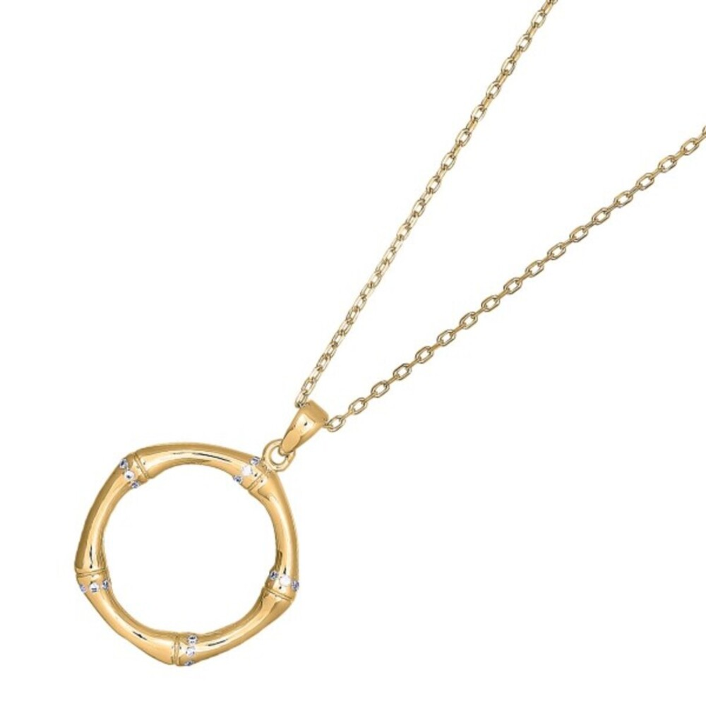 Nordahl Joanli Nor Halskette 245 137-3 FlorinaNor Silber 925 Vergoldet Klare Zirkonia 42+3cm Länge