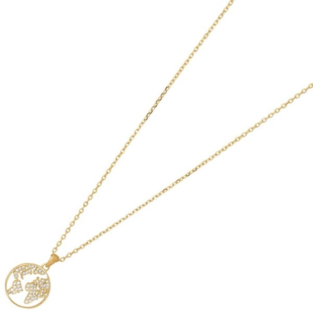 Nordahl Joanli Nor Halskette 245 143-3 EttaNor Sterling Silber 925 Vergoldet Klare Zirkonia 42+3mm
