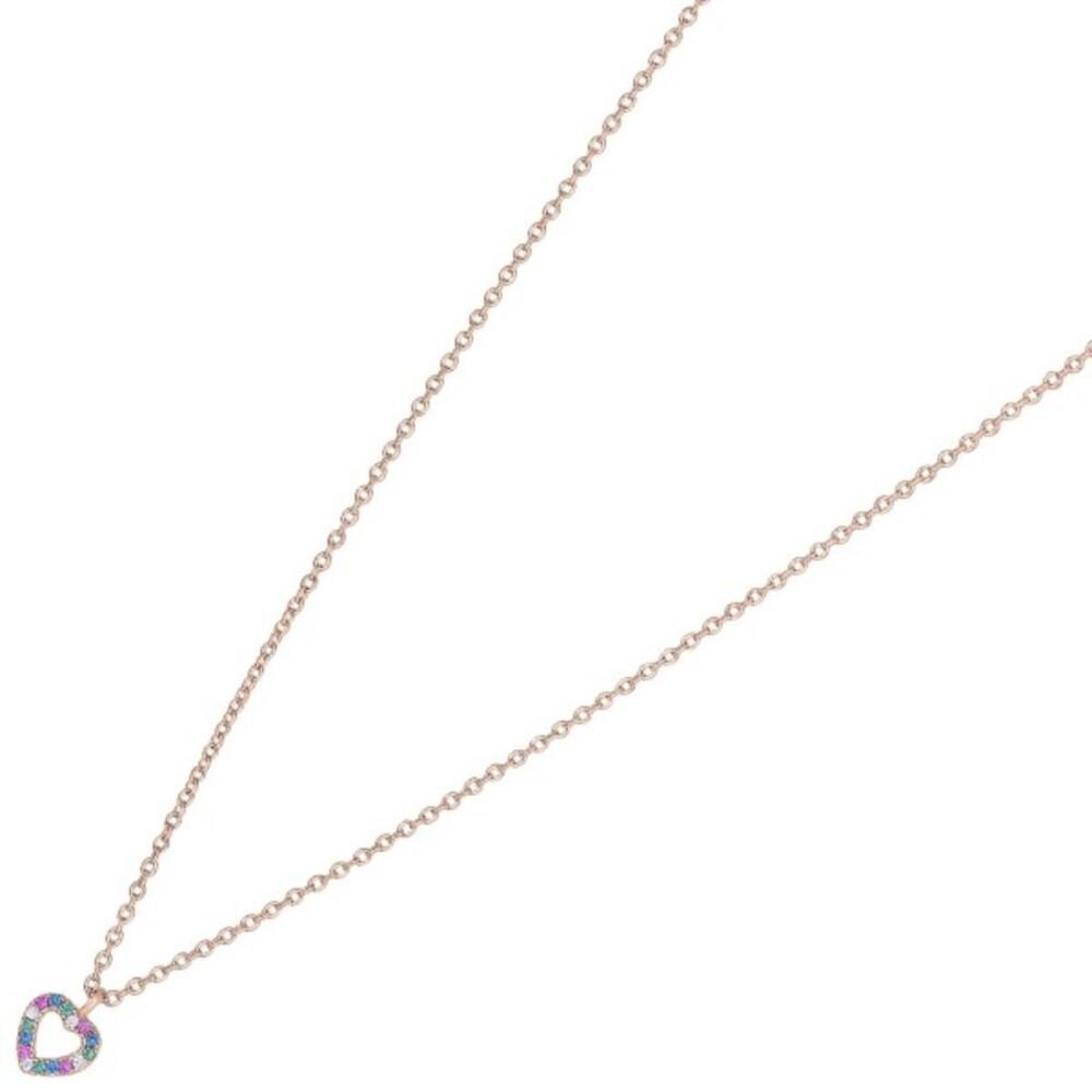 Nordahl Joanli Nor Halskette 245 150-4 FanaNor Sterling Silber 925 Rosevergoldet Bunte Zirkonia 42+3cm