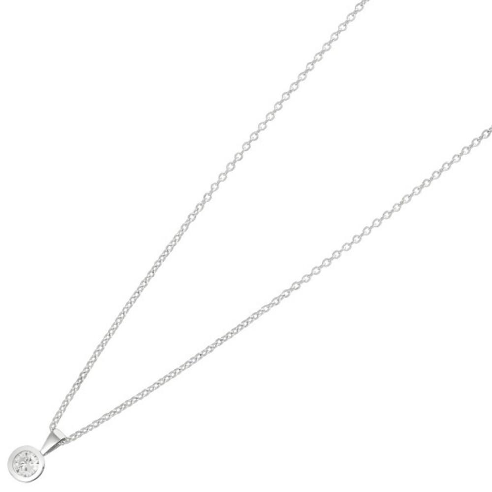 Nordahl Joanli Nor Halskette 245 902 AmyNor Rhodiniertes Sterling Silber 925 Swarovski Kristall 42+3cm
