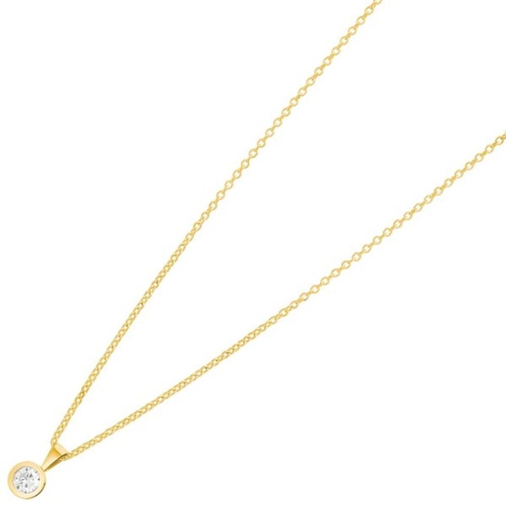Nordahl Joanli Nor Halskette 245 902-3 AmyNor SterlingSilber 925 Vergoldet Swarovski Kristall 42+3cm