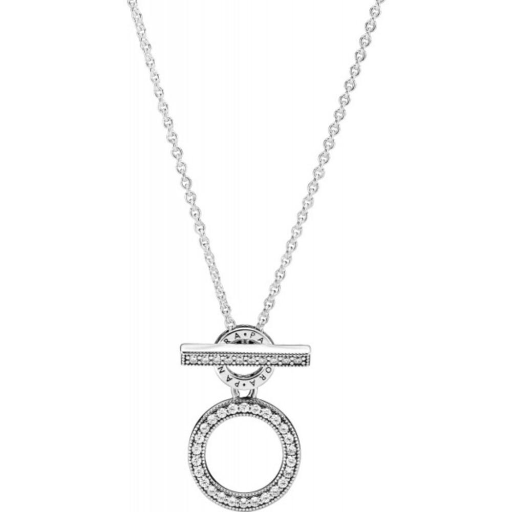 Pandora Halskette 399039C01-45 Double Hoop T-bar Silber 925 45cm
