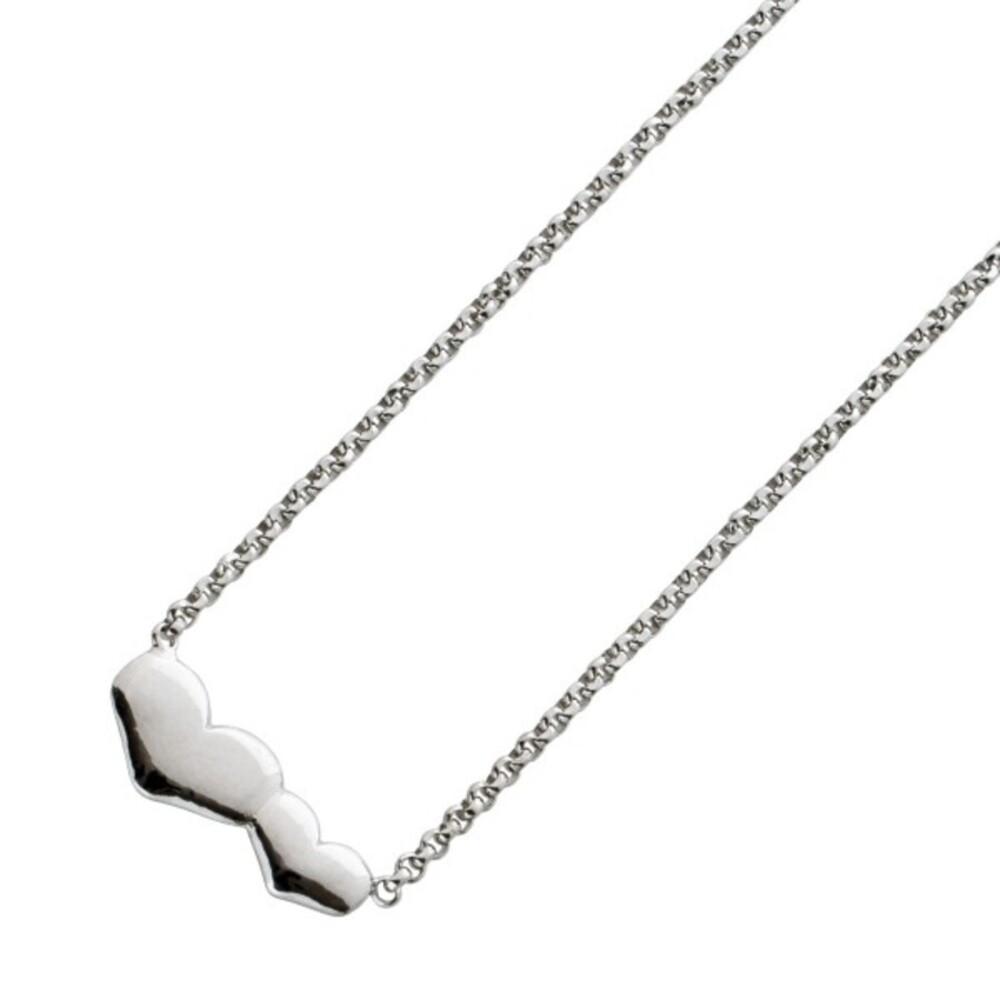 Herzkette Erbskette mit Doppelherz Sterling Silber 925 38+5cm