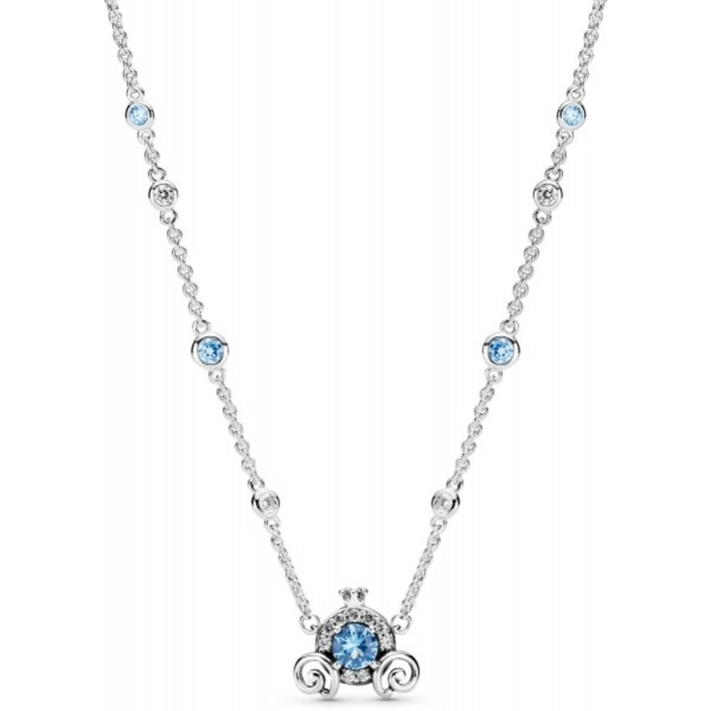 Pandora Disney Halskette 399198C01-45 Cinderella Pumpkin Coach Collier 45cm lang Silber 925 clear cubic zirconia forever blue crystal