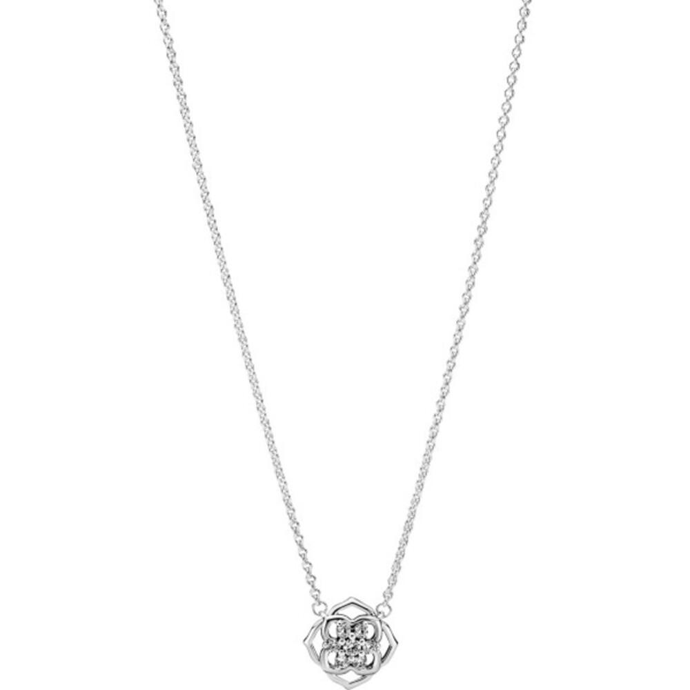 Pandora Timeless Halskette mit Anhänger 399370C01-45 Rose Petals Collier Silber 925 Klare Zirkonia