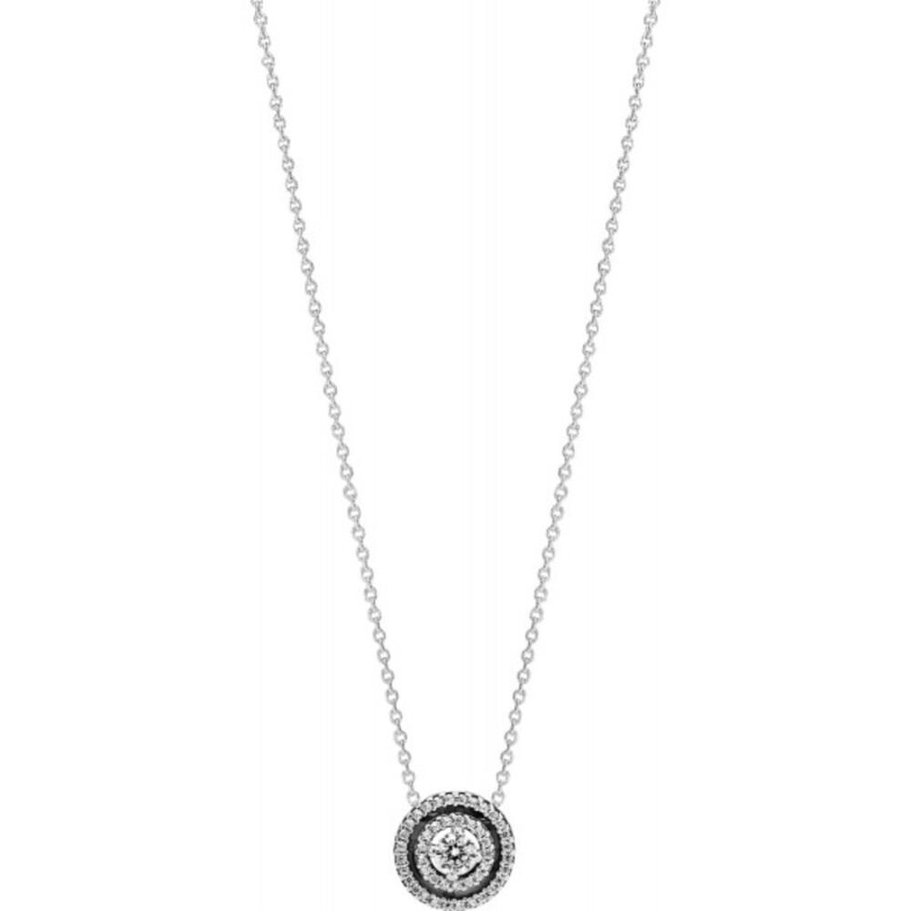 Pandora Timeless Halskette Mit Anhänger 399414C01-45 Sparkling Double Halo Collier Silber 925 Klare Zirkonia