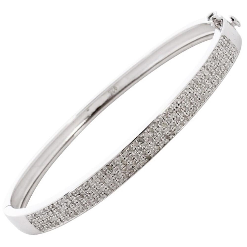 Diamant  Armreif Sterling Silber 925 Brillantarmreif Edelsteine  1