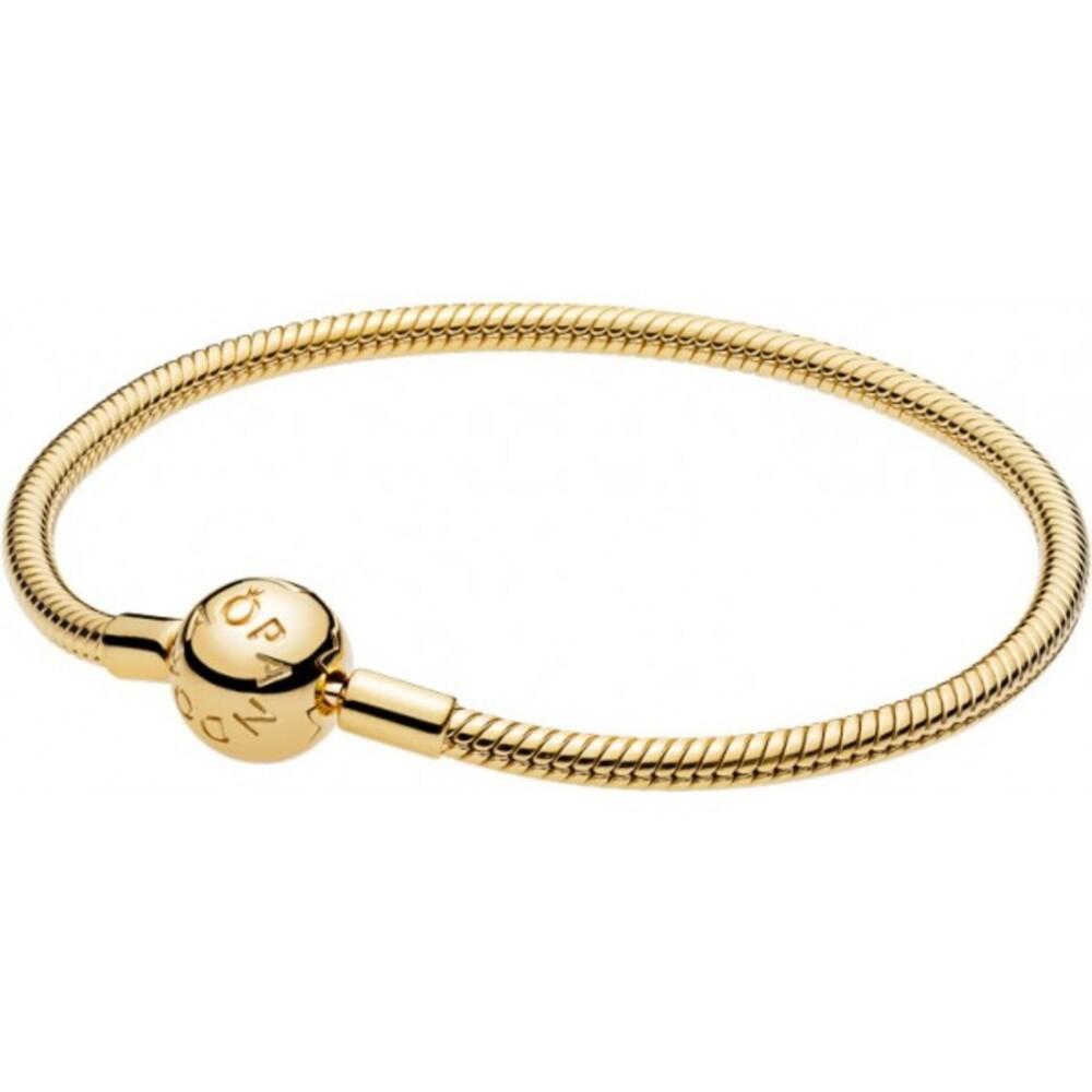 PANDORA Shine Armband 567107 Moments Smooth Silber 925 vergoldet 18kt