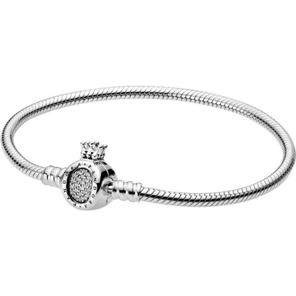 PANDORA Armband 598286CZ Moments Crown O Schlangenkette