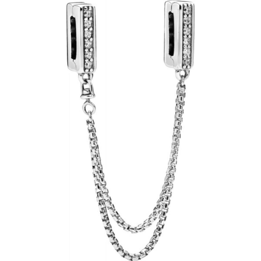 PANDORA Sicherheitskette 798269CZ 5cm Reflexions Sparkling Sterling Silber Zirkonia