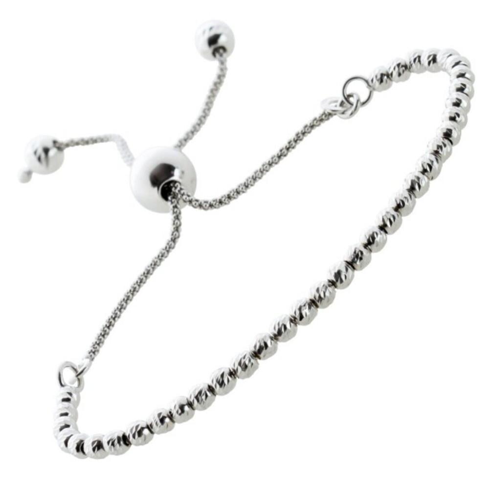 Friendship Kugel Armband Silber 925/- diamanierte Kugeln Freundschafts Armband  Damen