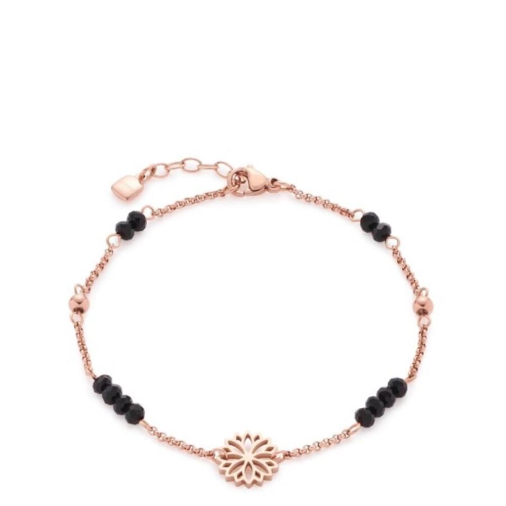 LEONARDO Armband Mirella 017060 CIAO 18,5cm Edelstahl IP rosegold Blumenmuster