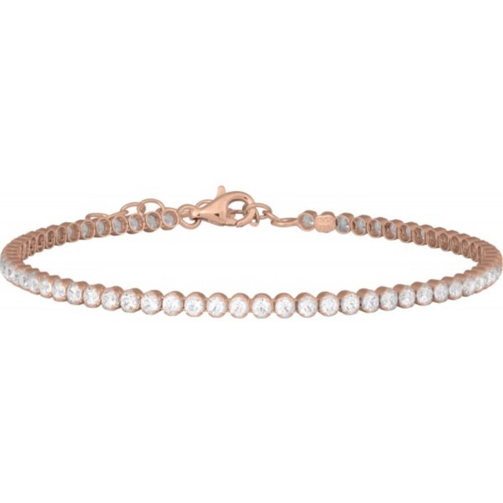 JOANLI NOR Armband ELNANOR 852000-4 Tennisarmband Silberarmband Silber rose vergoldet, 17+3cm