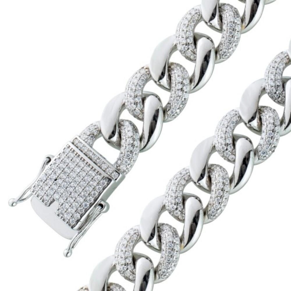 Weißes Zirkonia Armband Silber 925 Damenschmuck