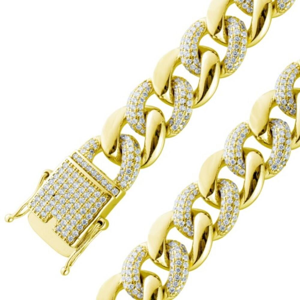 Armband weißen Zirkonia Steinen Silber 925 vergoldet Damenschmuck