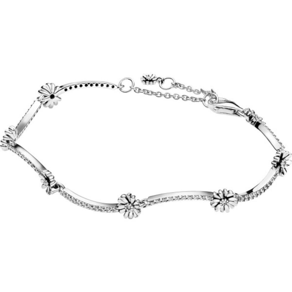 Pandora Garden Armband 598807C01 Sparkling Daisy Flower Bracelet Silber 925 Klare Zirkonia