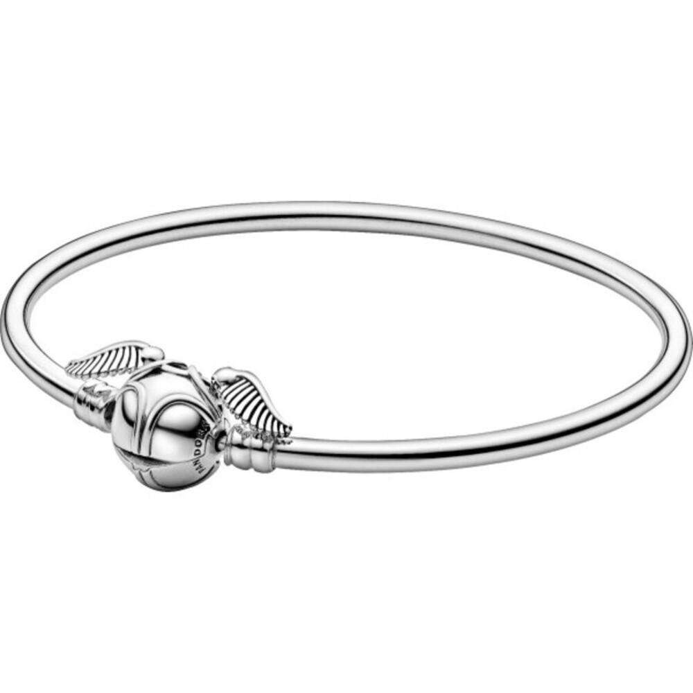Pandora Harry Potter Armband 598619C00 Pandora Moments Bangle Golden Snitch Clasp Silber 925