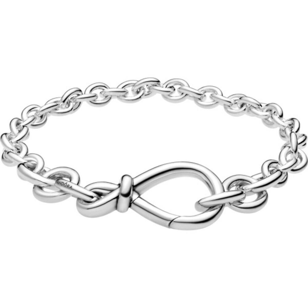Pandora Timeless Armband 598911C00 Chunky Infinity Knot Chain Bracelet Silber 925