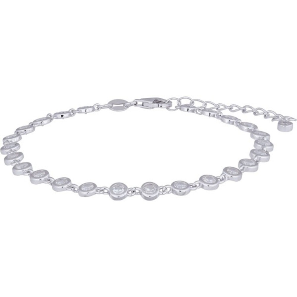Nordahl Joanli Nor Armband845 093 FannyNor Rhodiniertes Sterling Silber 925 Klare Zirkonia 17+3cm