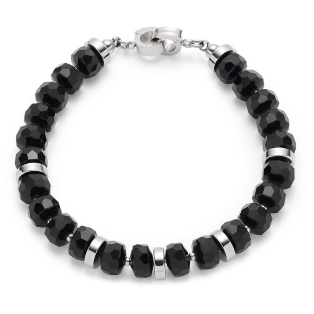 Leonardo Armband Donna Clip&Mix 018300 Edelstahl Schwarze Glaskristalle