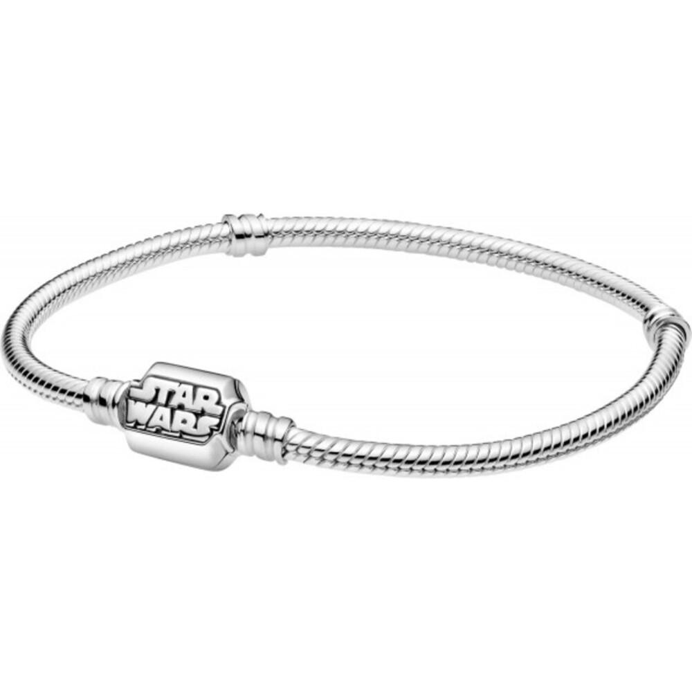 Pandora x Disney Star Wars Armband 599254C00 Pandora Moments Star Wars Snake Chain Bracelet Silber 925